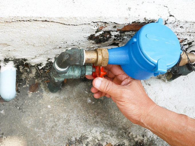 main water line shut off valve