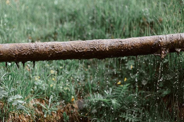 Leaking water pipe plumbing emergency